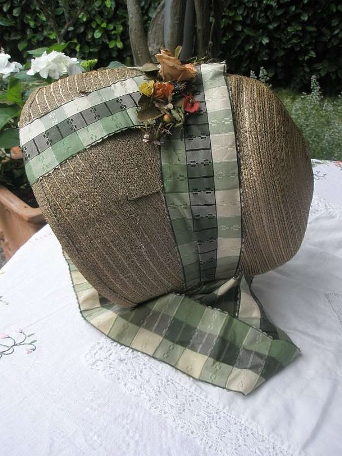 A rare Georgian bonnet - English 1820 - 1825