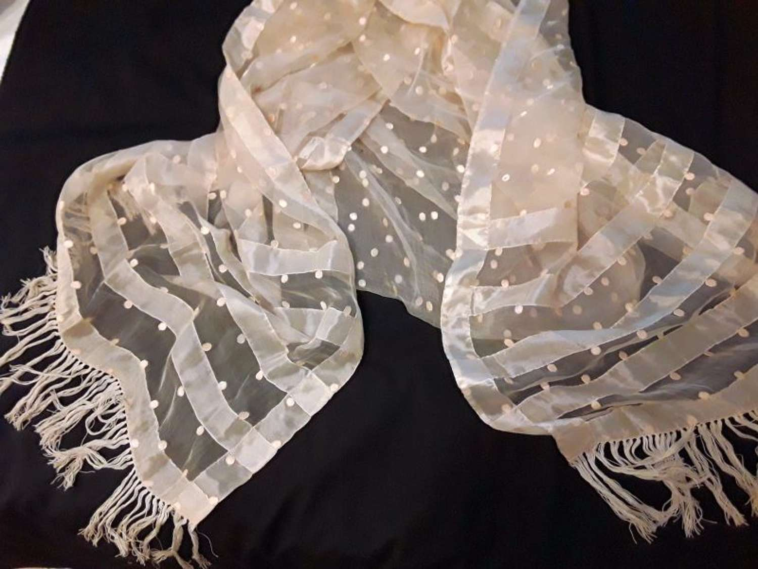 A rare and beautiful fine long stole English or French ca.1795 - 1800